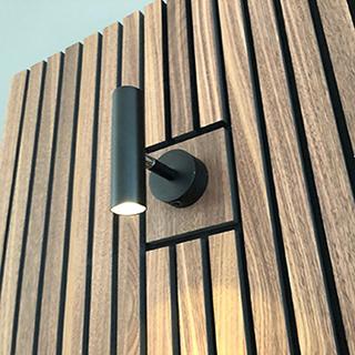 Acuwood akustikpanel med udskæring til væglampe