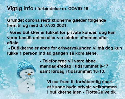 Særlige åbningstider i forbindelse med julen og COVID-19
