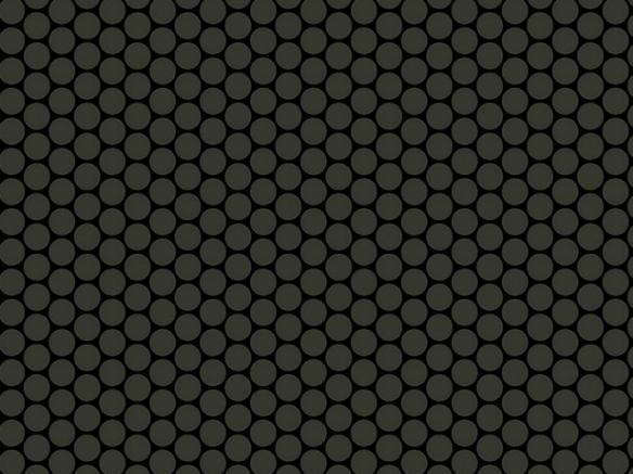 Flot vinylgulv i sort med små cirkler